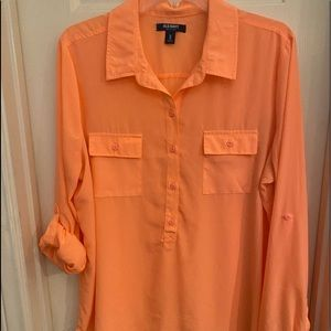 Old Navy peach shirt size L